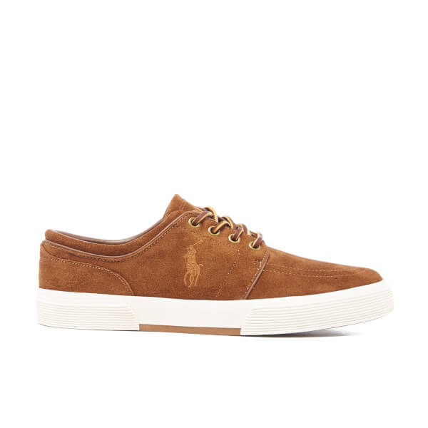 Polo Ralph Lauren Men's Faxon Sport Suede Low Top Trainers - New Snuff