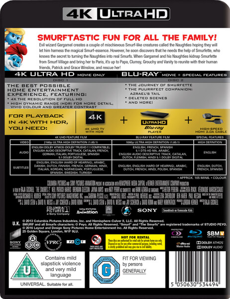 the smurfs 2 4k ultra hd bluray zavvi