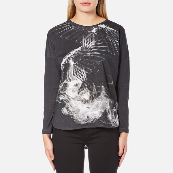 Barbour International Women's Visor Long Sleeve T-Shirt - Dark Grey