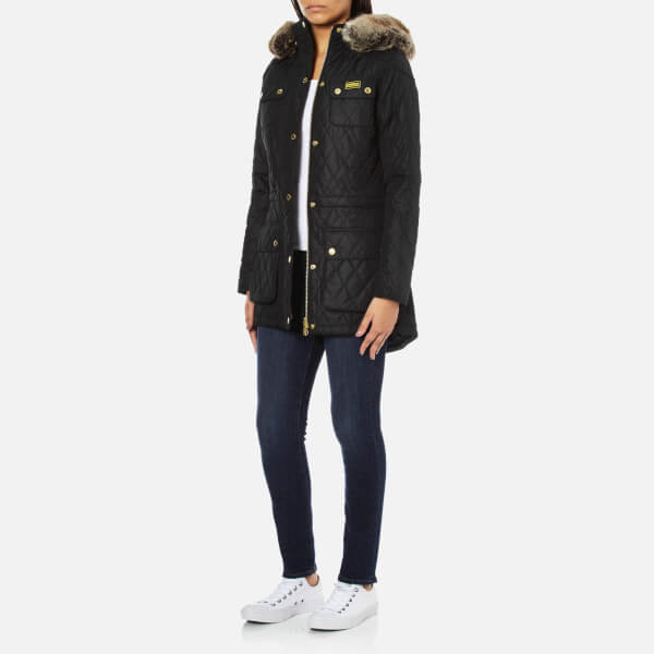 Barbour International Women's Enduro Quilt Jacket - Black - Free ...