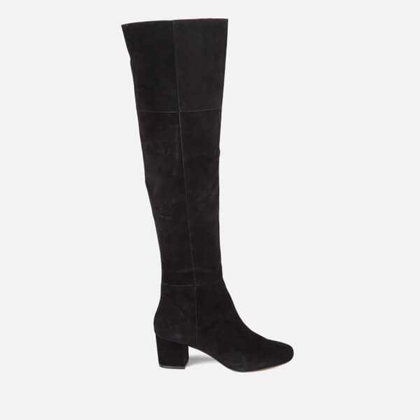 Dune Women's Sanford Suede Thigh High Heeled Boots - Black