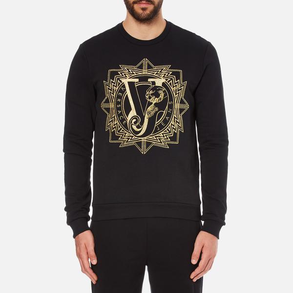 Versace Jeans Men's Light Sweatshirt - Black: Image 1