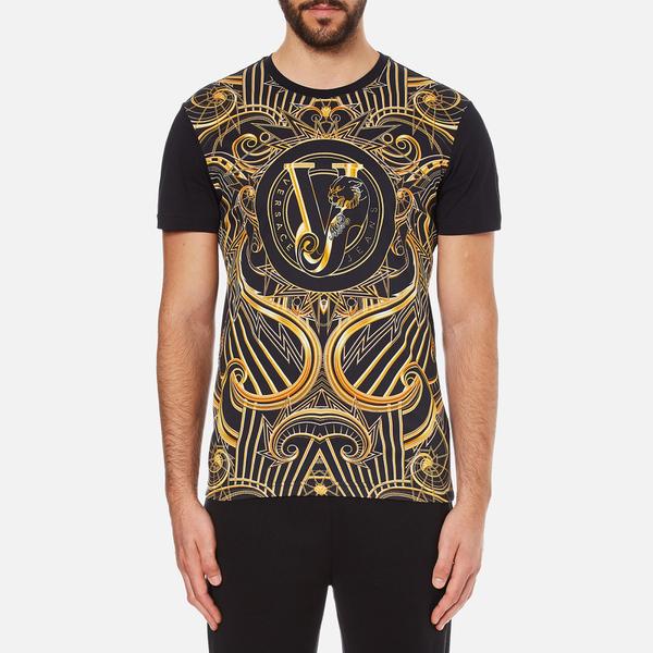 Versace Jeans Men's Front Print T-Shirt - Black: Image 1