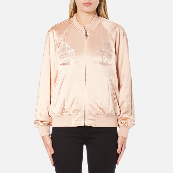 Alexander Wang Women's Souvenir Jacket with Threadwork Embroidery - Blush