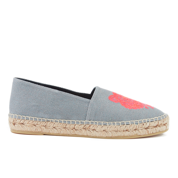 KENZO Women's Tiger Head Espadrilles - Grey/Pink