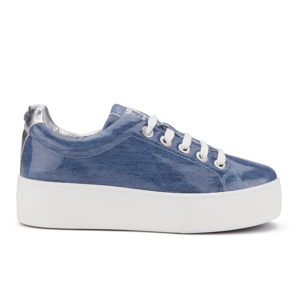 KENZO Women's K-Lace Platform Trainers - Denim