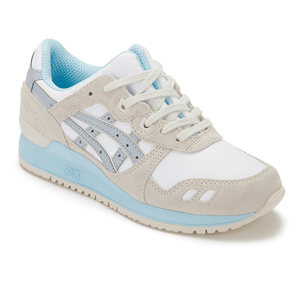 e91290fa3a60 Asics Lifestyle Women s Gel-Lyte III Crystal Blue Pack Trainers -  White Light Grey