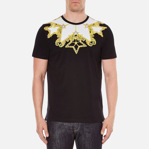 Versace Collection Men's Printed T-Shirt - Black