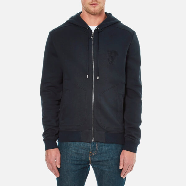 Versace Collection Men's Zipped Hoody - Blue