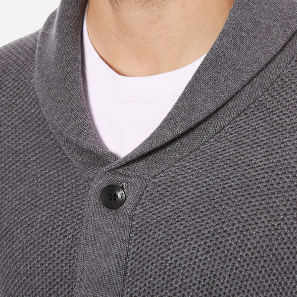 Rag Bone Mens Avery Shawl Cardigan Charcoal Free Uk Delivery