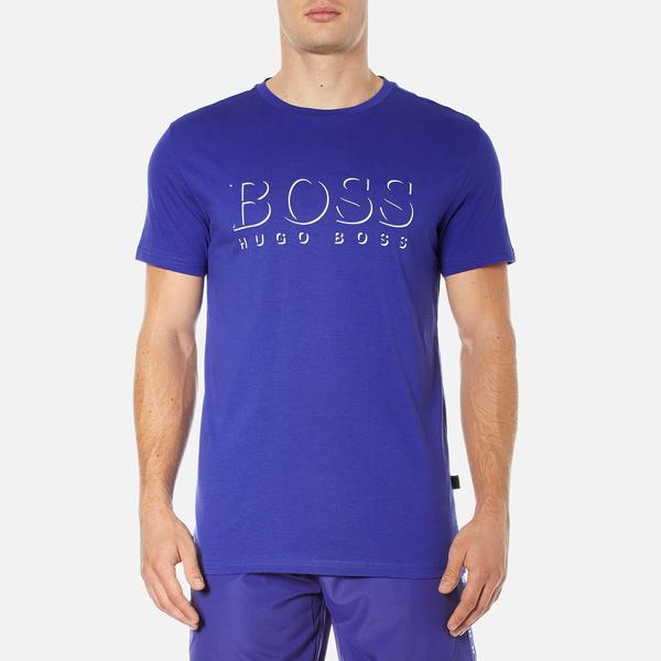 BOSS Hugo Boss Men's Large Logo T-Shirt - Medium Blue