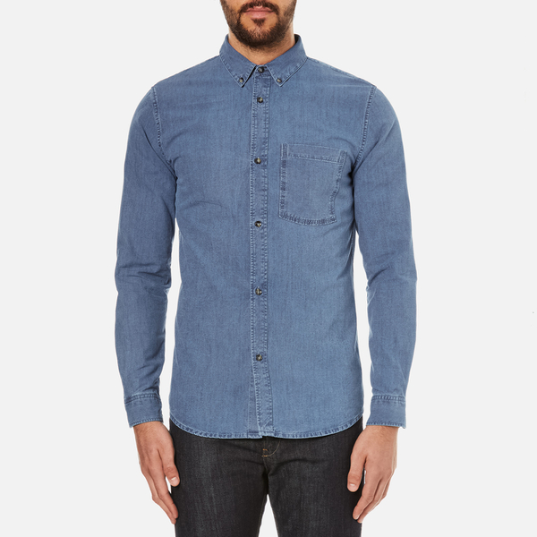 A.P.C. Men's Clift Denim Shirt - Indigo Delave