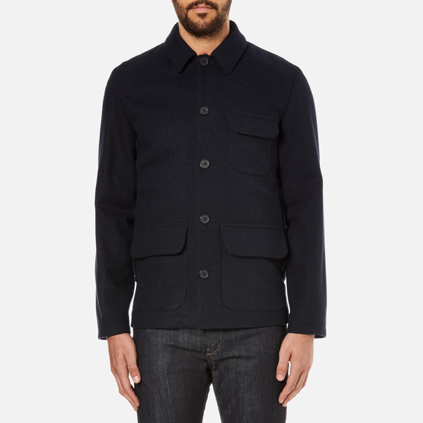 A.P.C. Men's Woollen Coat - Marine