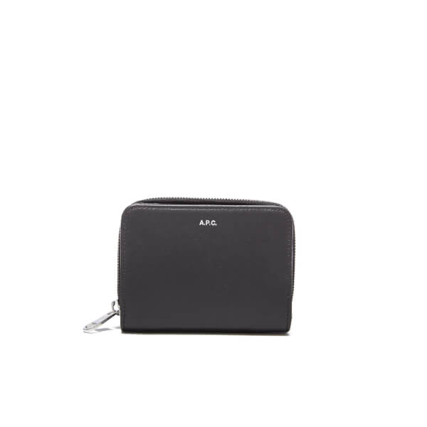 A.P.C. Men's Zipped Wallet - Noir