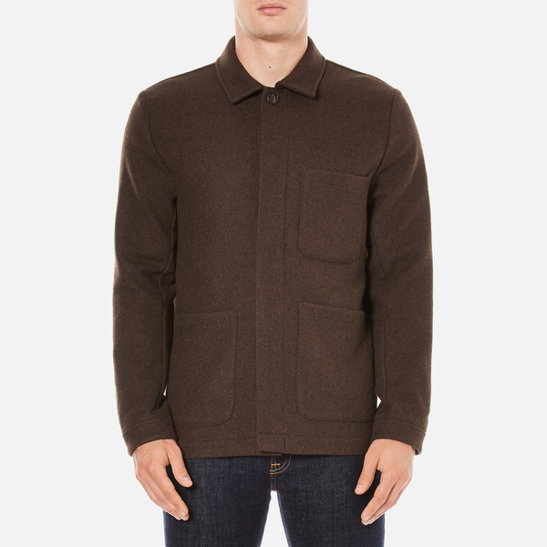 A Kind of Guise Men's Yak Wool Teheran Jacket - Chocolate