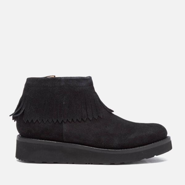 Grenson Women's Trixie Suede Tassel Boots - Black