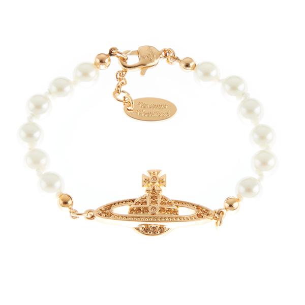 Vivienne Westwood Jewellery Women's Mini Bas Relief Bracelet - Light Colorado Topaz