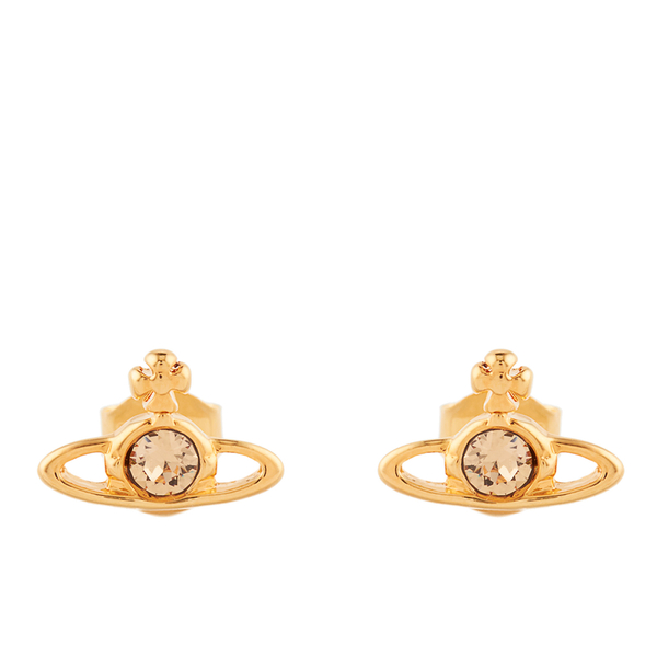 Vivienne Westwood Jewellery Women's Nano Solitaire Earrings - Light Topaz