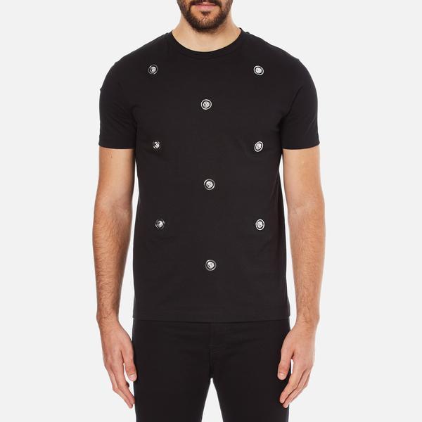 Versus Versace Men's Embellished Crew Neck T-Shirt - Black