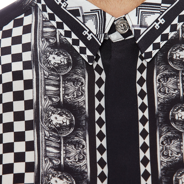 Versus Versace Men's Printed Long Sleeve Shirt - Black/White: Image 5