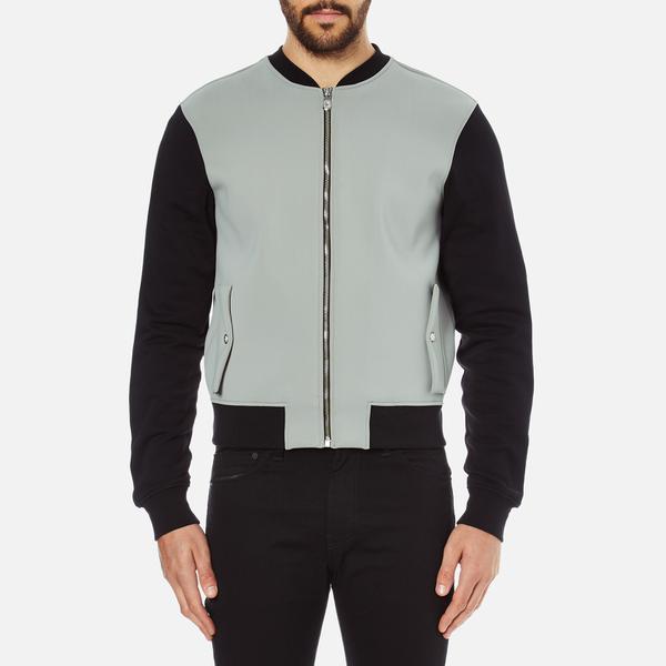 Versus Versace Men's Reverse Logo Zip Through Sweatshirt - Black