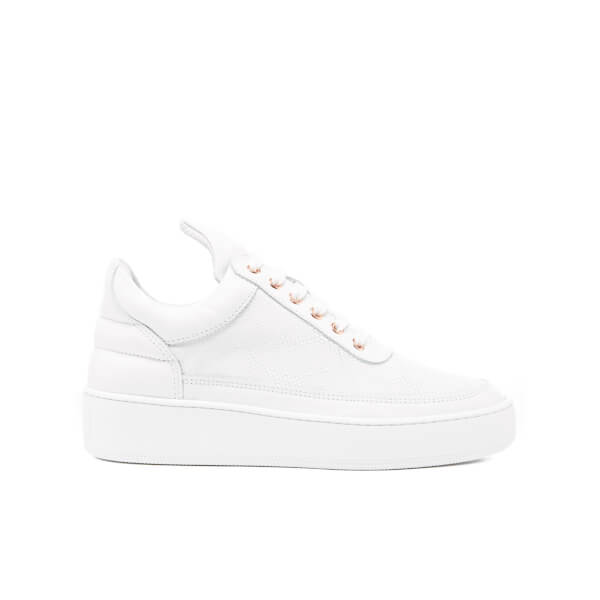 Filling Pieces Women's Leguano Low Top Trainers - White
