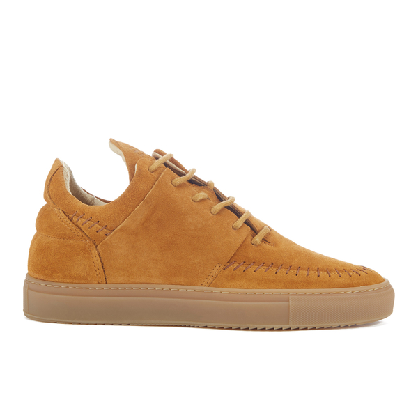 Filling Pieces Men's Native Suede Low Top Trainers - Cognac