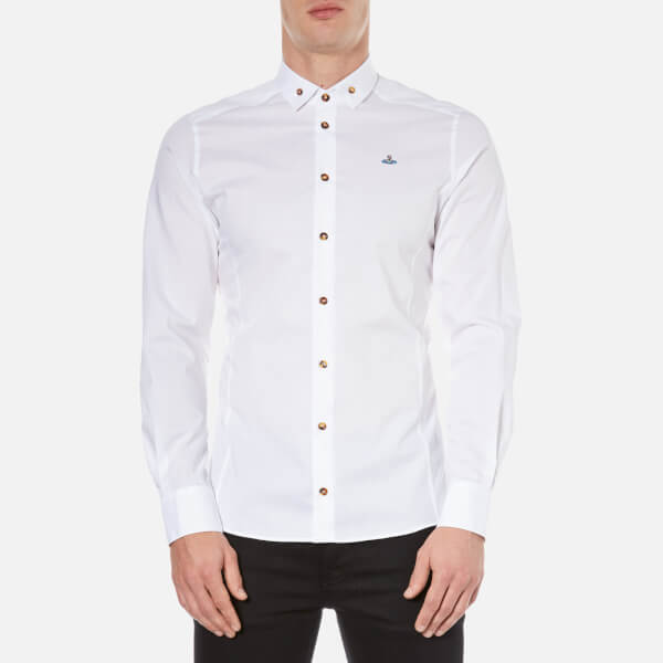 Vivienne Westwood MAN Men's Stretch Poplin Long Sleeve Shirt - White