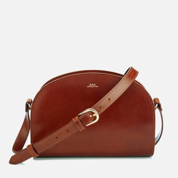 A.P.C. Women's Demi-Lune Cross Body Bag - Chestnut Brown