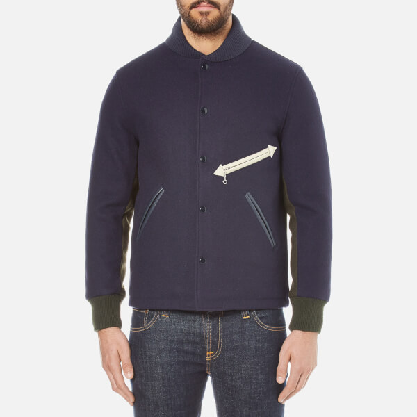 Garbstore X Golden Bear Men's Stadium Jacket - Navy/Green