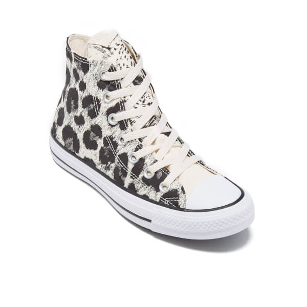 586a3834240d Converse Women s Chuck Taylor All Star Animal Print Hi-Top Trainers -  Parchment Black