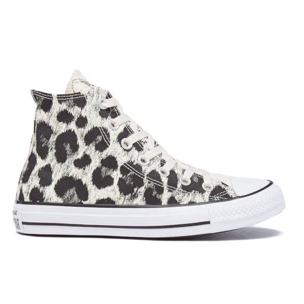 ff6b9fdbdd39 Converse Women s Chuck Taylor All Star Animal Print Hi-Top Trainers -  Parchment Black