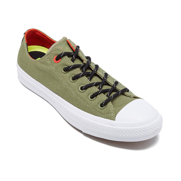 Converse Men's Chuck Taylor All Star II Shield Canvas Low Top Trainers -  Fatigue Green/