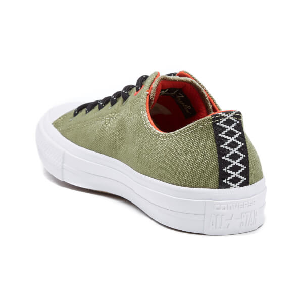 63004cbc7ad4 Converse Men s Chuck Taylor All Star II Shield Canvas Low Top Trainers -  Fatigue Green