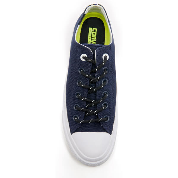 4ec33597582361 Converse Men s Chuck Taylor All Star II Shield Canvas OX Trainers - Obsidian  White