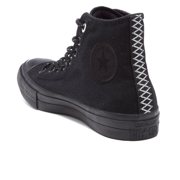 58aee6121b6f Converse Men s Chuck Taylor All Star II Shield Canvas Hi-Top Trainers -  Black