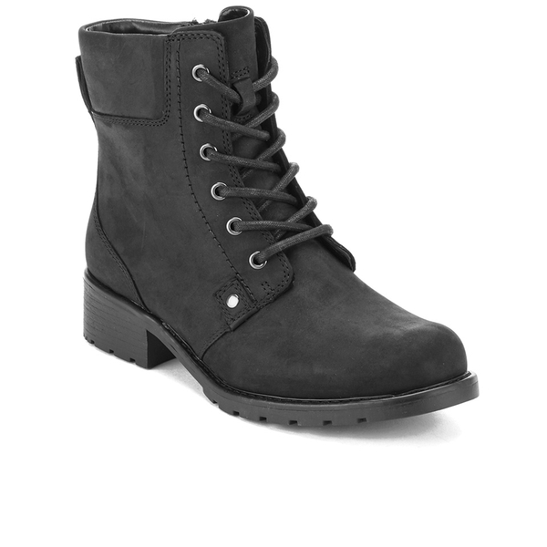 3bced359663 Clarks Women s Orinoco Spice Leather Lace Up Boots - Black  Image 2