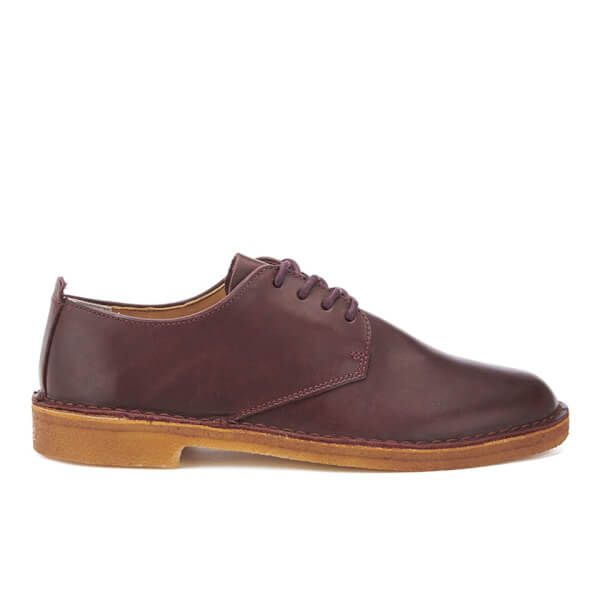 Clarks Men's Desert London Derby Shoes - Beeswax Leather - UK 7