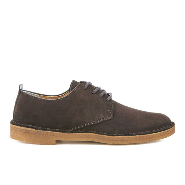 Clarks Originals Men's Desert London Derby Shoes - Dark Brown Suede