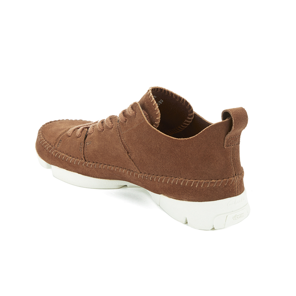 Clarks Originals Men's Trigenic Flex Shoes - Dark Tan Suede: Image 4