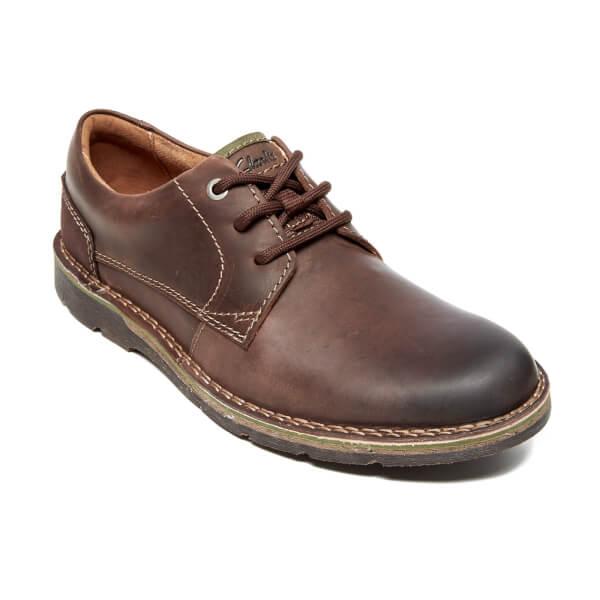 Shoes Men's Free Brown Clarks Plain Edgewick Uk Leather Dark wIH0HBd7q