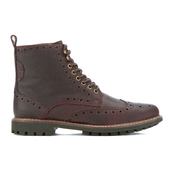 Clarks Men's Montacute Lord Brogue Lace Up Boots - Chestnut