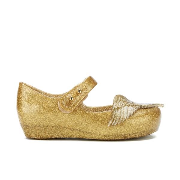 Mini Melissa Vivienne Westwood Toddlers' Ultragirl 16 Ballet Flats - Gold Glitter