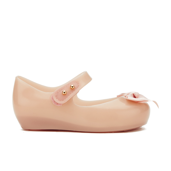Mini Melissa Toddlers' Ultragirl Silk Bow Ballet Flats - Nude