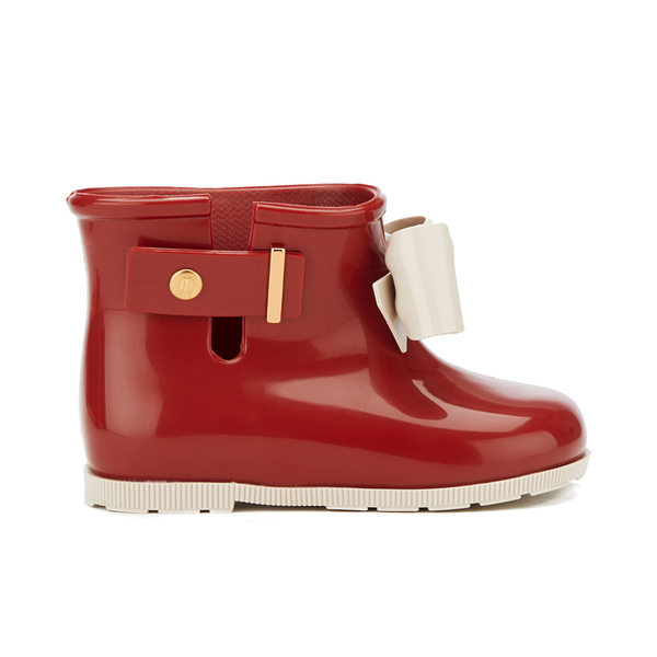 7c04b39401da Mini Melissa Toddlers  Sugar Rainbow Boots - Red Contrast  Image 1