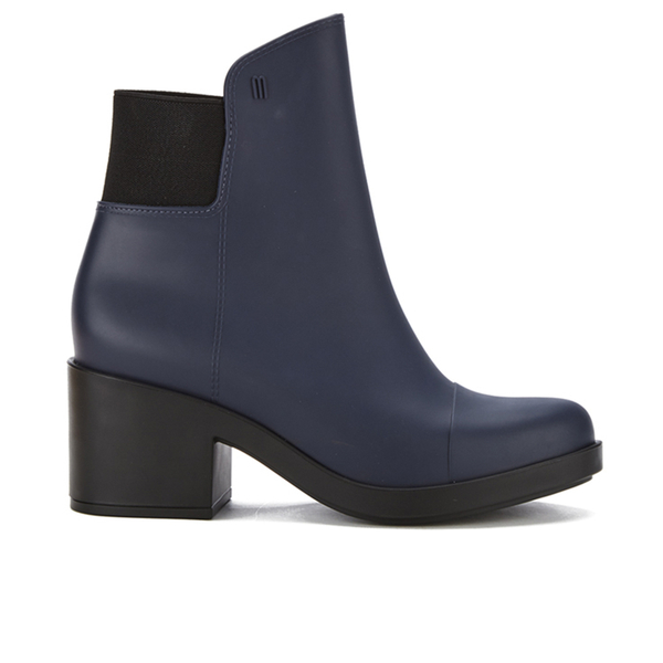 Melissa Women's Elastic Heeled Ankle Boots - Blue