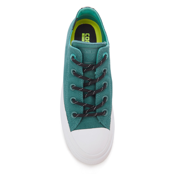5a3233356ce239 Converse Women s Chuck Taylor All Star II Shield Canvas Ox Trainers - Cool  Jade White