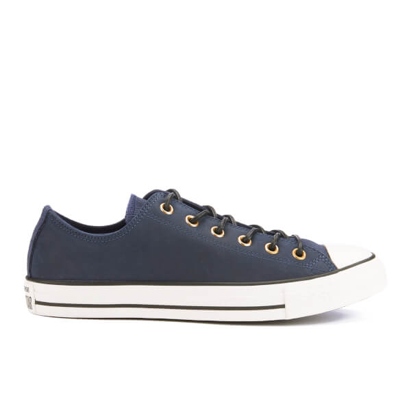 Converse Men's Chuck Taylor All Star Leather/Corduroy Ox Trainers - Obsidian/Egret/Black