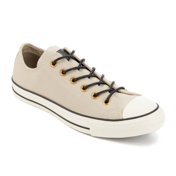 797208f9fb741c Converse Men s Chuck Taylor All Star Leather Corduroy Ox Trainers - Frayed  Burlap Egret