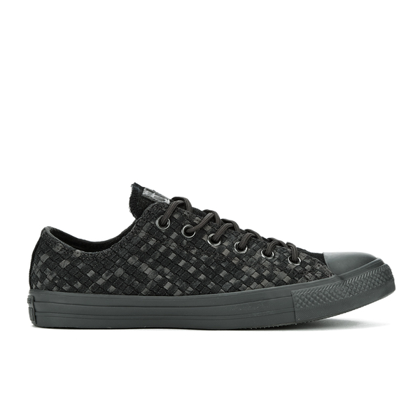 Converse Men's Chuck Taylor All Star Denim Woven Ox Trainers - Black/Storm Wind/Storm Wind